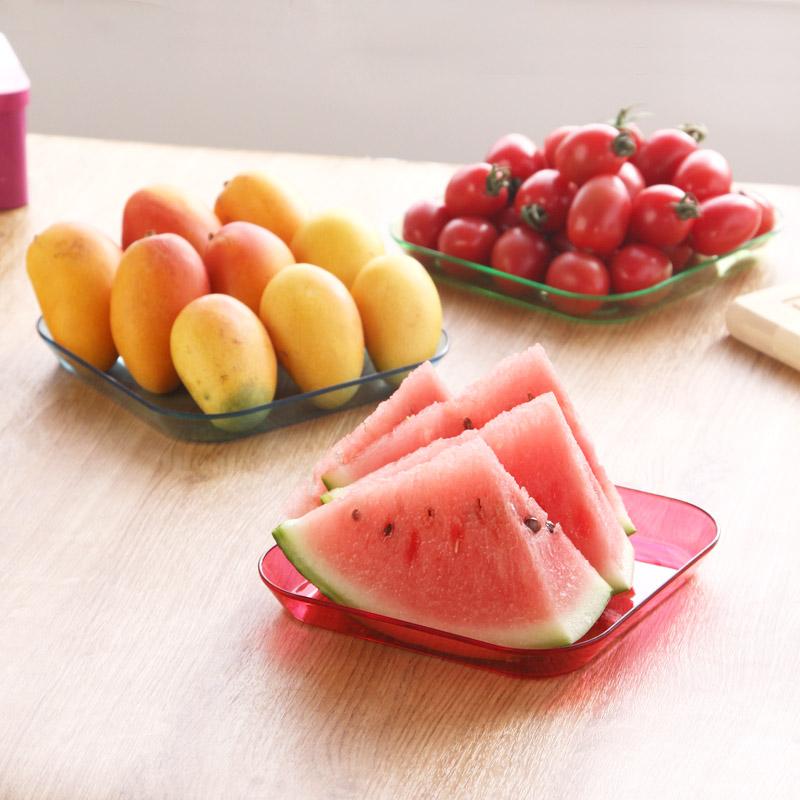 居家家創意零食點心沙拉小盤子果盤客廳家用塑料托盤水果盤乾果盤
