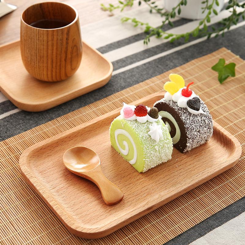 居家家 日式盘子木盘木制碟子托盘 创意家用木托盘菜盘餐盘点心盘
