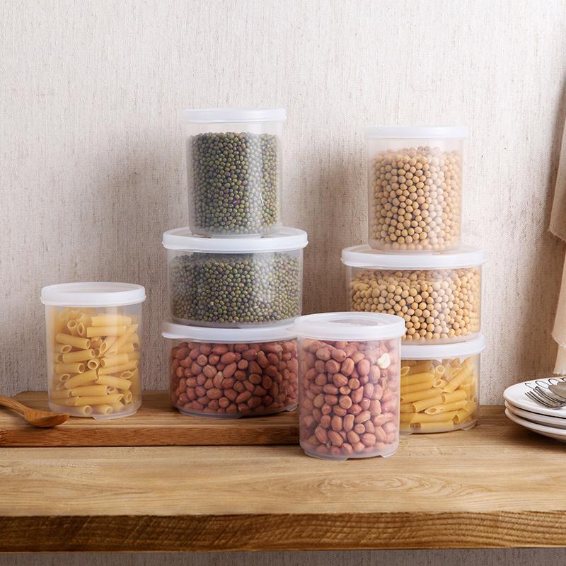 居家家透明食品密封罐塑料茶葉罐廚房雜糧五穀收納罐子乾貨收納盒