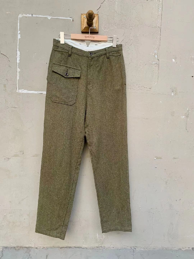 Jinxin ~ Japan made Adam et Rope military wool pants ~ 40 high waist tapered pants ~ both men and women can be used