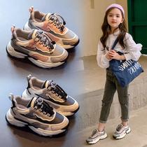 女童鞋老爹鞋2020年春秋新款男童秋款鞋子儿童秋季休闲二棉运动鞋