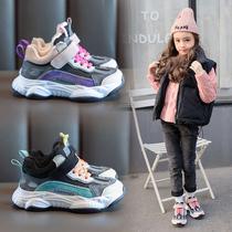 新款鞋子女童防滑网红单鞋男孩韩版小白2019跑步运动鞋儿童复古