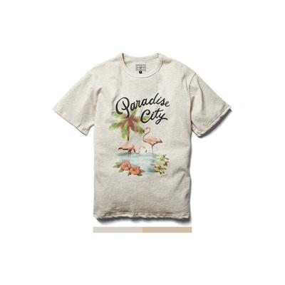 Retrodandy  'paradise city' 火烈鸟 主题短袖 T恤