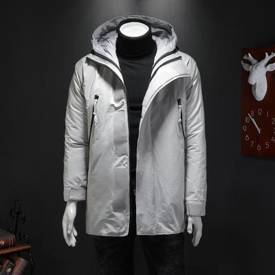 80%白鸭绒 冬季中长款俩件套连帽羽绒服外套 923 P480