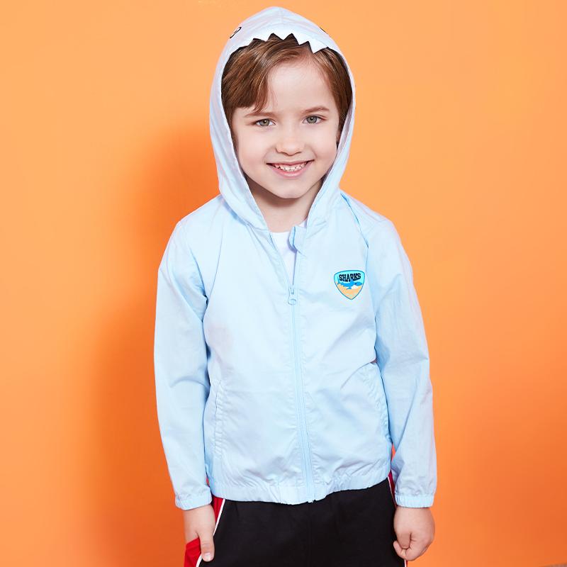 (爱苹果123精选童装) 男童外套薄2021夏装新款儿童上衣男小童休闲