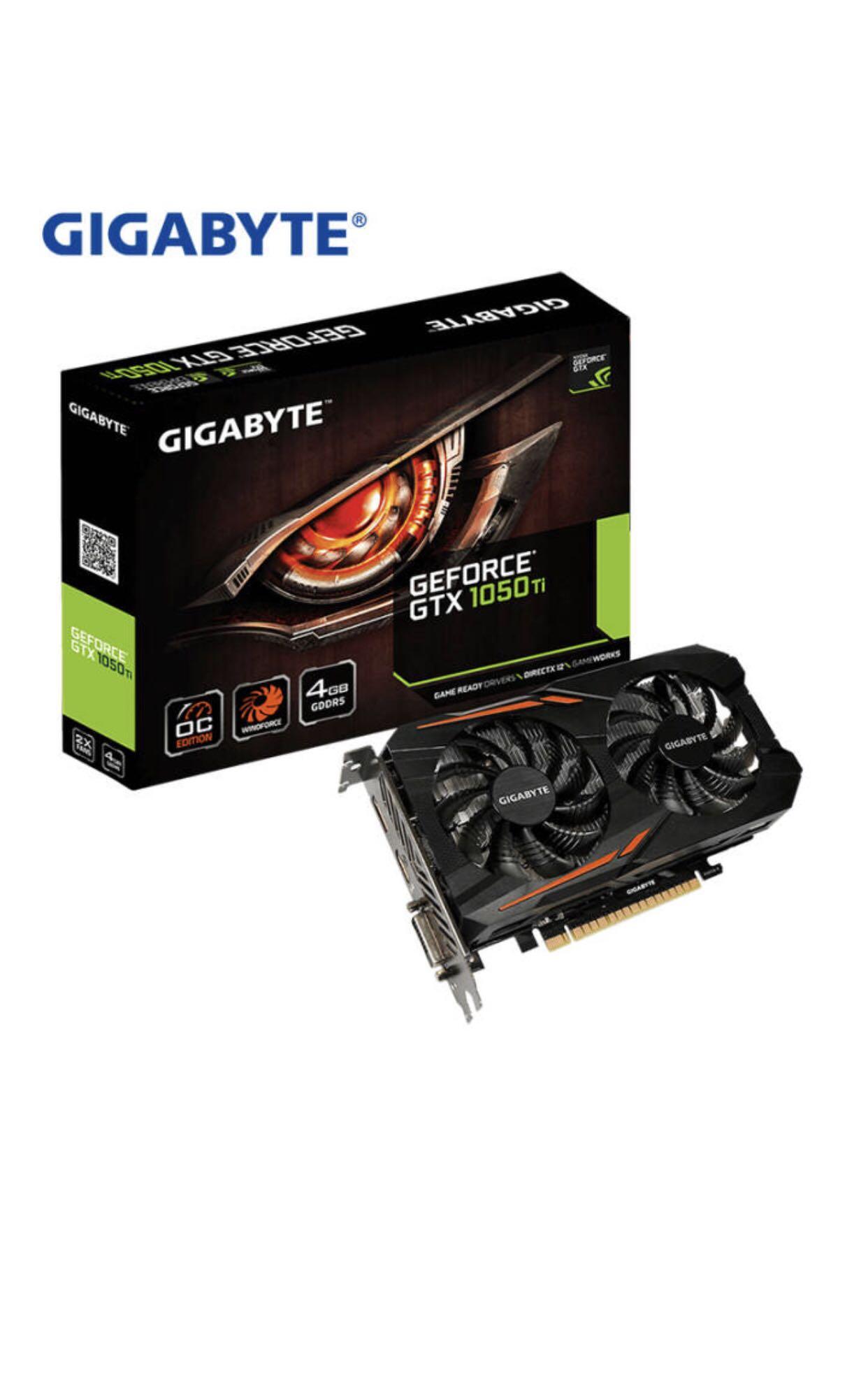 技嘉(GIGABYTE) GTX1050Ti4G显卡/游戏显卡 吃鸡显卡 技嘉显12月02日最新优惠