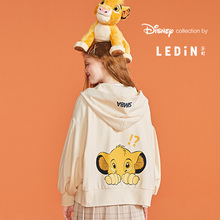 Lion King Joint Name Le Ding Cute Cap Short Coat New Style Smart White Coat Thin Style for Autumn 2019