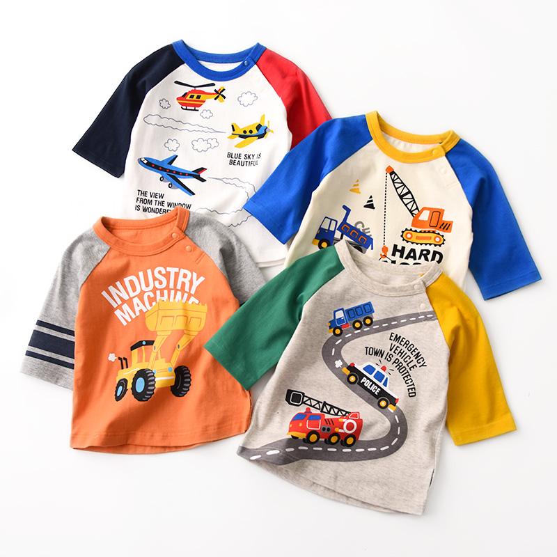 儿童纯棉七分袖t恤男童卡通打底衫26.00元包邮
