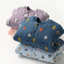 加厚款 儿童丝绵棉袄 男童女童纯棉棉衣外套 小立领开衫 童装冬款