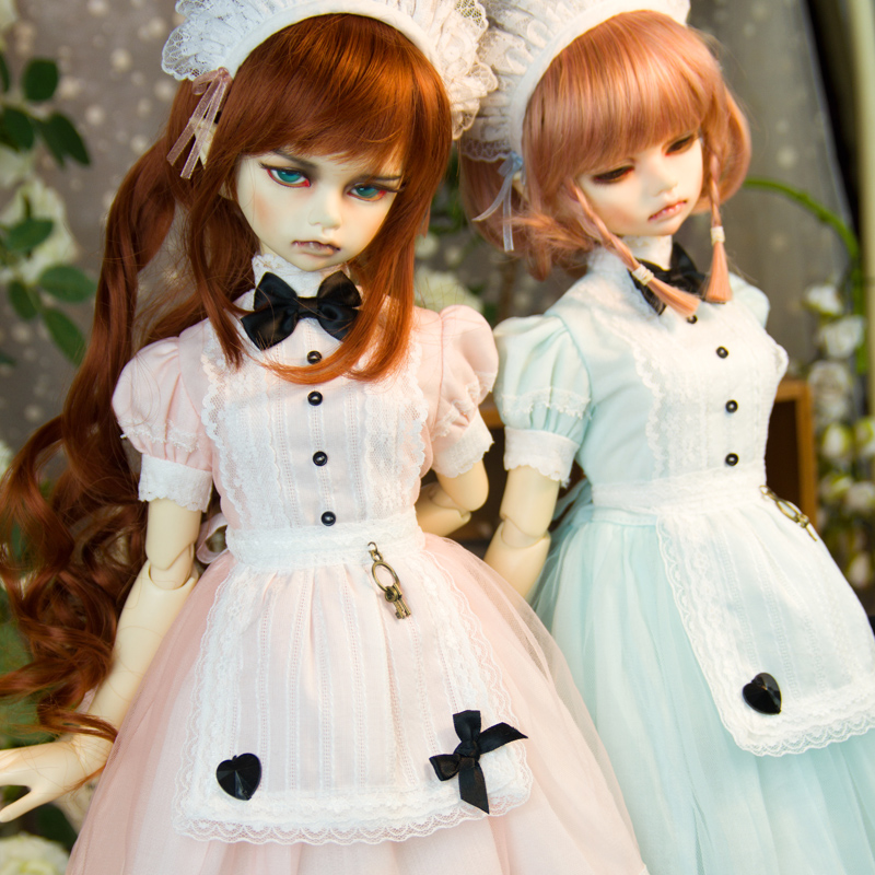 Amors new baby suit BJD dress 1 / 3 sub size SD baby Maid Dress cos dress three color selection