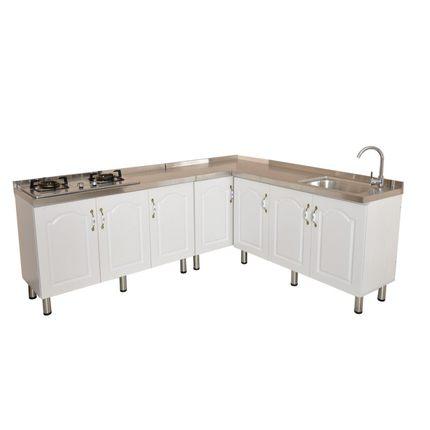 简易厨房灶台抽屉水槽加宽台面橱柜