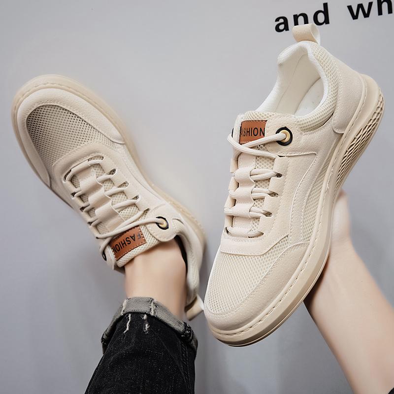 2020新款春夏低帮透气板鞋男士英伦户外男鞋网布鞋X2696-P85