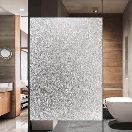 静电磨砂玻璃贴膜贴纸浴室卫生间窗户窗花贴透光不透明防走光家用