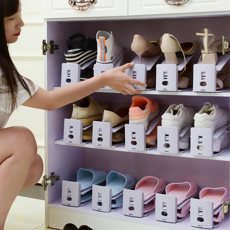收纳鞋架双层鞋托寝室省空间一体式家用宿舍神器置物拖鞋鞋柜鞋子