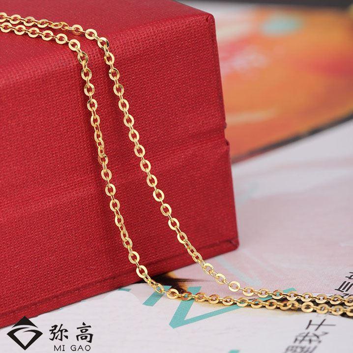 弥高ジュエリー18 Kゴールドファッション新型O字形十字のネックレスは、男女問わず鎖骨チェーンのブランドです。