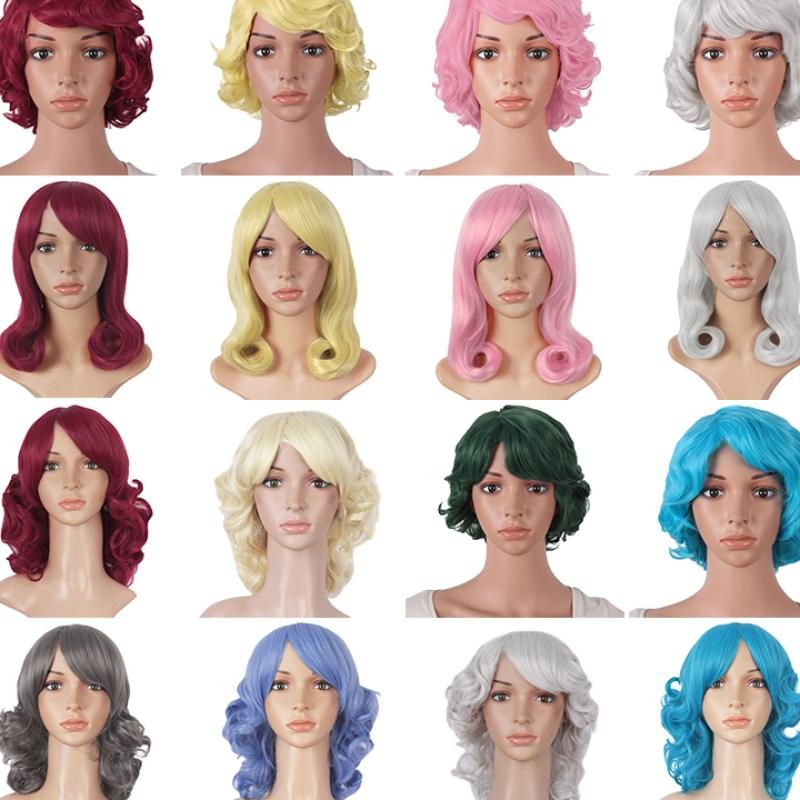Grazing clearance cos Wig Men and women universal short hair animation short straight hair role play lifelike invisible without trace