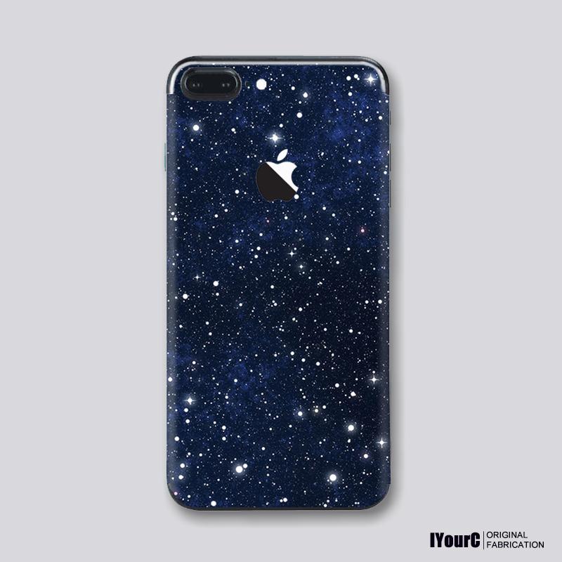 苹果7Plus星空创意iphone X艺术彩膜手机贴纸6S背膜8Plus彩膜后膜