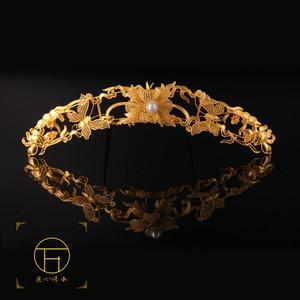 618活动后绝版镶嵌金银器皇冠发簪