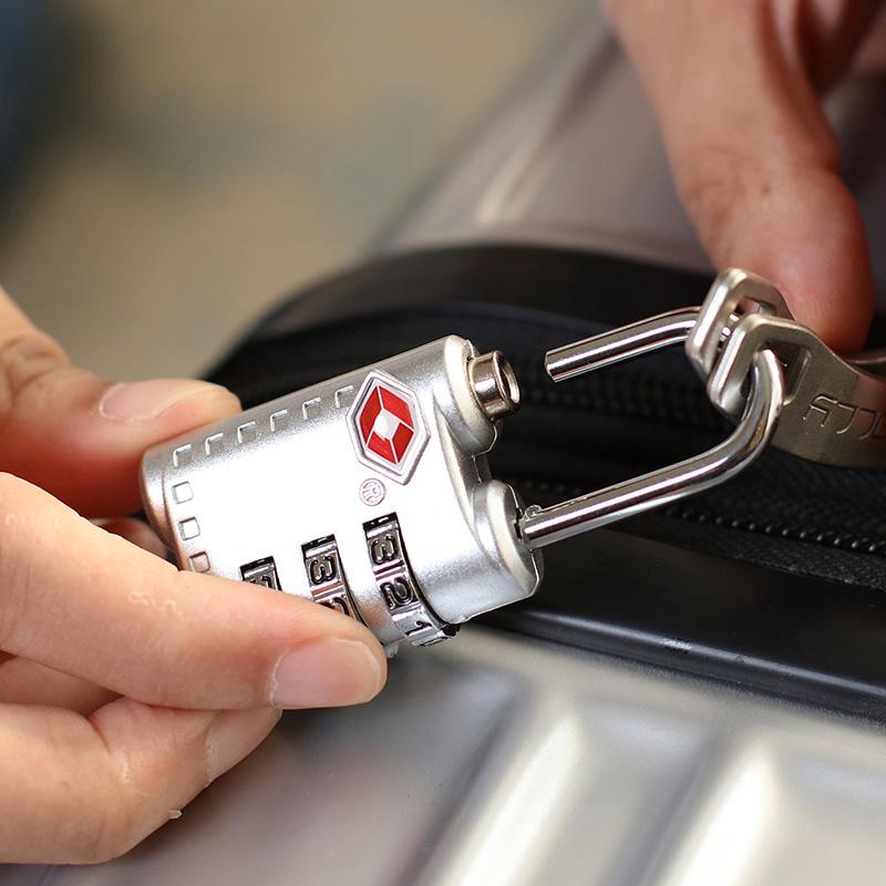 旅行TSA海关锁防盗行李箱拉杆箱皮箱背包不带钥匙的密码锁箱包锁