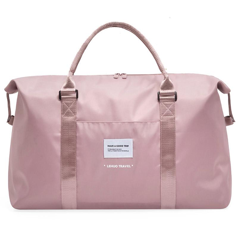Travel bag large capacity female short distance business trip hand luggage bag set trolley bag clothes storage bag light fitness bag