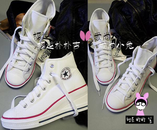 韩国进口女鞋春秋款max star坡跟热卖经典款休闲舒适多色布鞋单鞋
