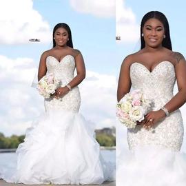 水晶美人鱼南非阿拉伯热卖2020新款甜心公主裙撑新娘婚纱夏季