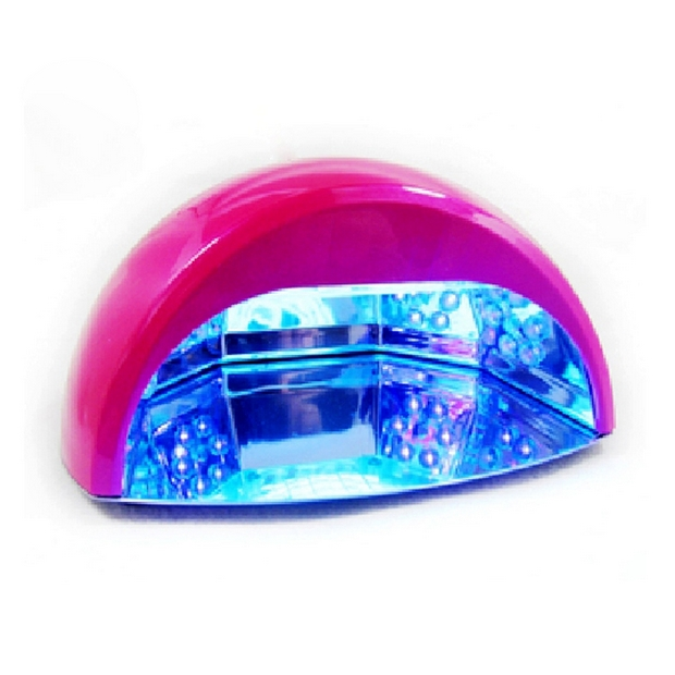 RATEX批发美甲LED+UV两用光疗灯 指甲美甲工具红色 黑色使用效果
