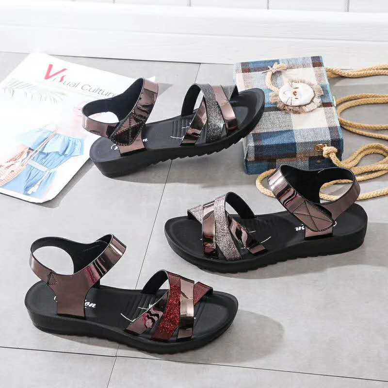 2020 new mother sandals women summer flat bottomed pregnant womens shoes