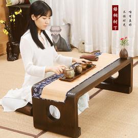 古琴桌凳共鸣琴桌禅意书桌小矮琴桌新中式古筝专用实木长方形地桌图片