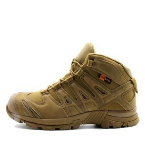 7号物资 户外军迷战术靴登山鞋徒步鞋军靴男沙漠靴防滑耐磨沙色