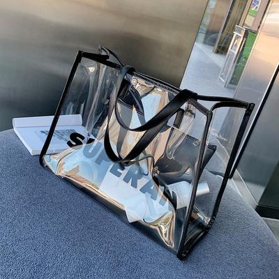夏季单肩大包包女2019新款潮韩版百搭透明包包子母包大容量手提包