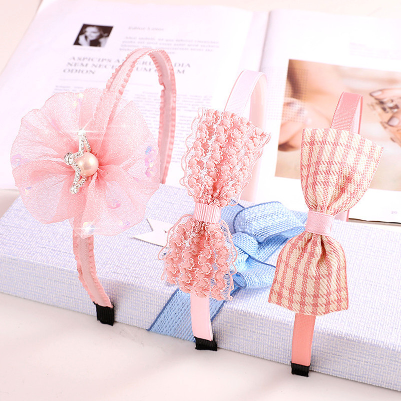 Hairpin childrens hairpin hairband bow crown toothed little girl cute headband primary school students hair accessories