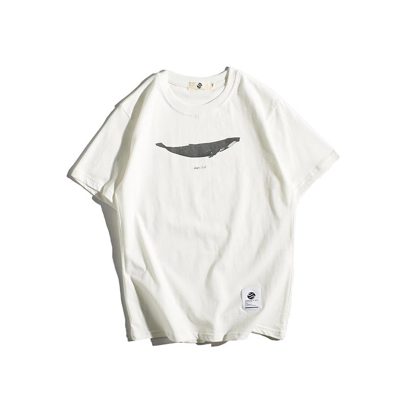 东京衣柜男装夏季新款个性鲸鱼t恤11-30新券