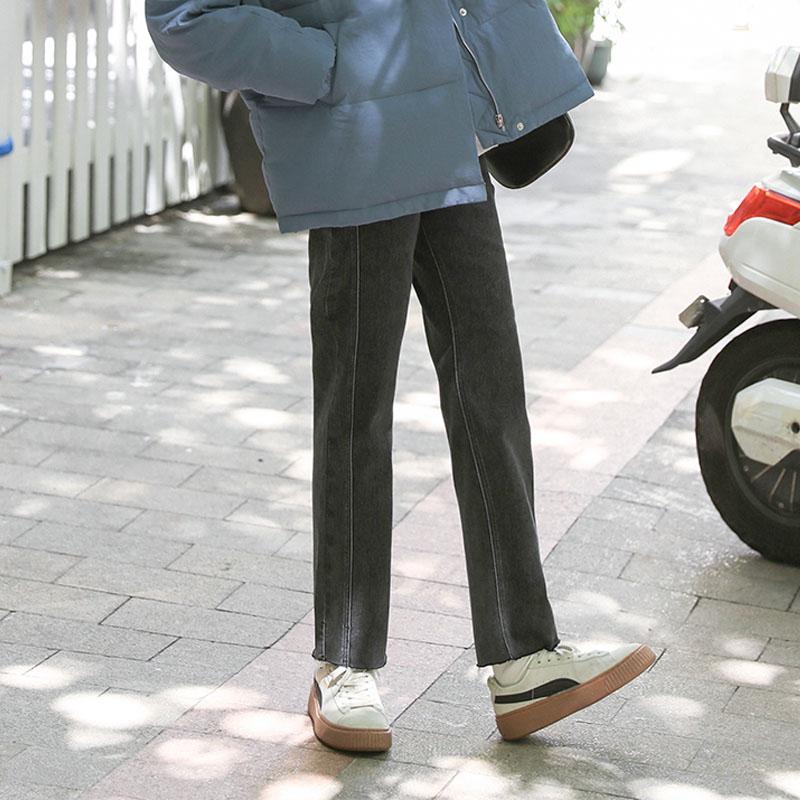 【现货】忠犬小八梨形自制h一路向北 双线显瘦直筒裤学生春牛仔裤