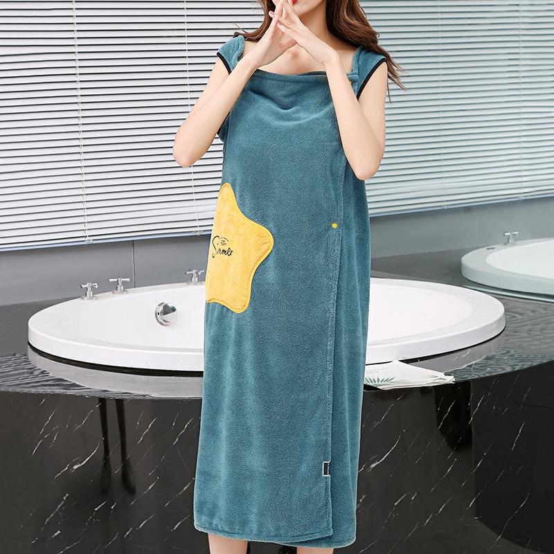 沐凡浴巾女士加大可爱成人浴袍加厚柔软吸水速干浴裙性感洗澡浴衣