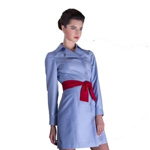 法航空姐制服 美容院医疗会所服务员职业装 修身西装领长袖连衣裙