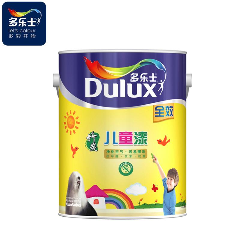 Dulux/多乐士 儿童乳胶漆彩色套装涂料 竹炭儿童漆全效套装