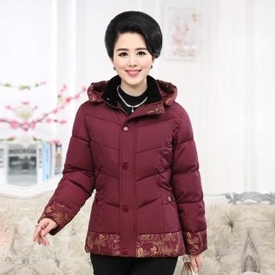 中老年女装冬款棉袄韩版妈妈装加厚棉衣地摊中年人保暖外套