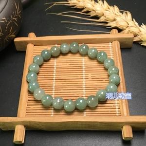天然缅甸翡翠圆珠三彩手串男女手链
