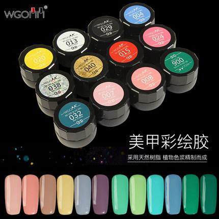 美甲彩绘胶可卸日本雕花胶毛衣胶光疗拉线胶实色指甲油胶画花浮雕