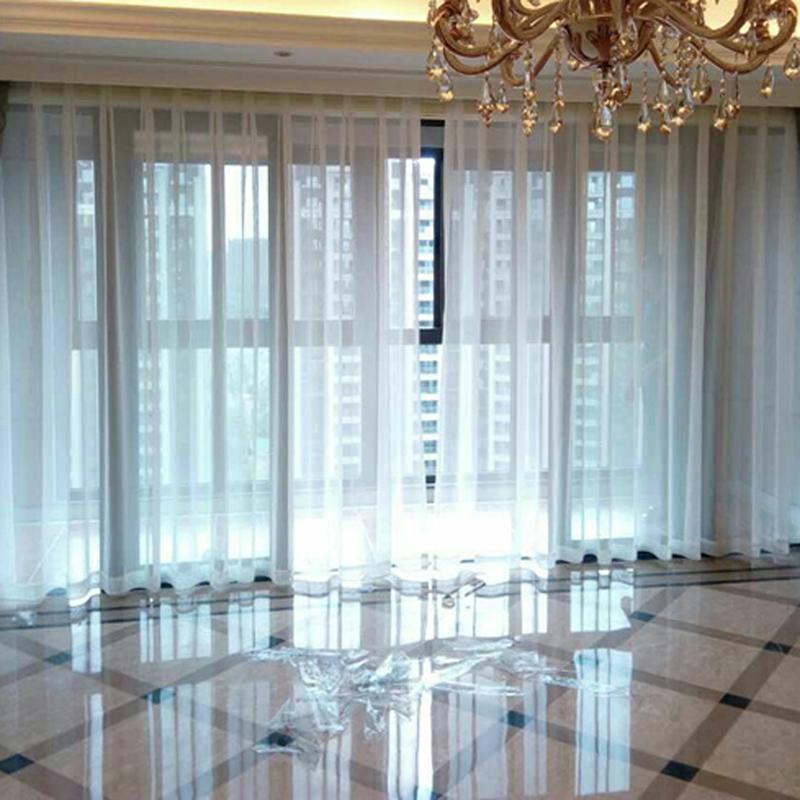 白色纱帘现代美式阳台挂钩白纱穿帘隔断窗帘布料成品定制防蚊门帘
