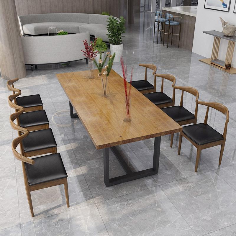 办公桌电脑桌会议桌书桌洽谈桌长桌椅组合实木家用商业家具工作台
