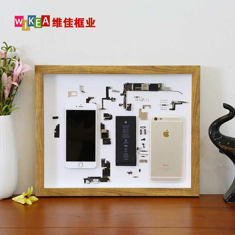手机拆机画框装裱数码硬盘零件模型拆解收藏展示衍纸立体标本相框