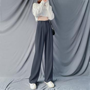 高腰阔腿裤2020年夏季宽松休闲裤