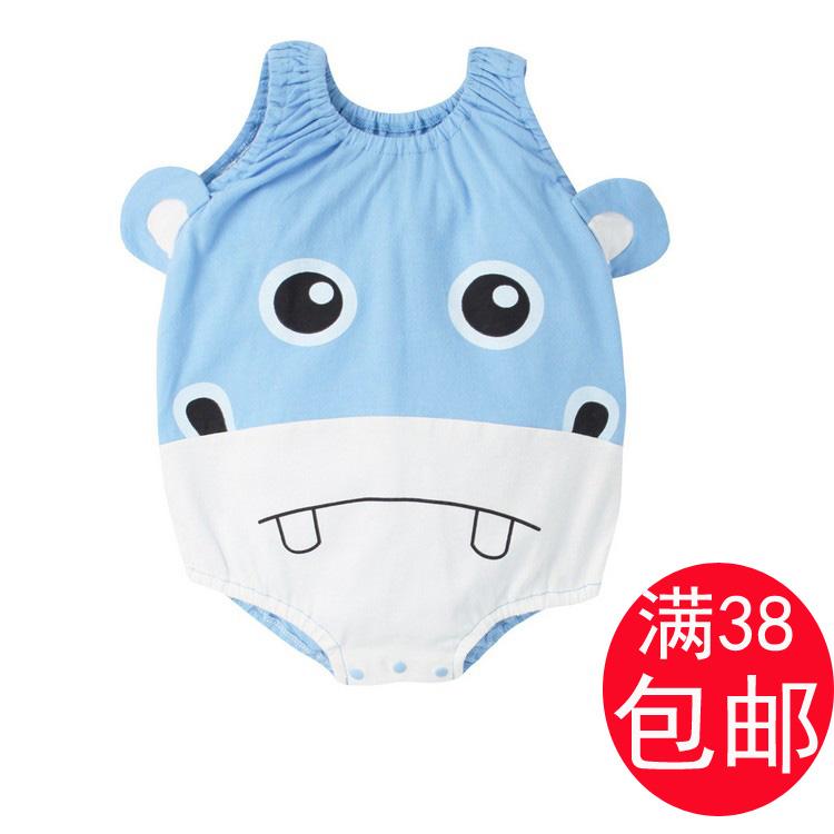 男女宝宝夏季衣服    婴儿背心包屁衣 个性爬爬服动物造型哈衣