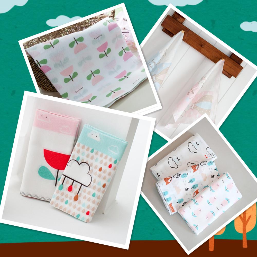 韩国进口无荧光纯棉宝宝婴儿用品小方巾手帕喂奶巾口水巾手巾手绢