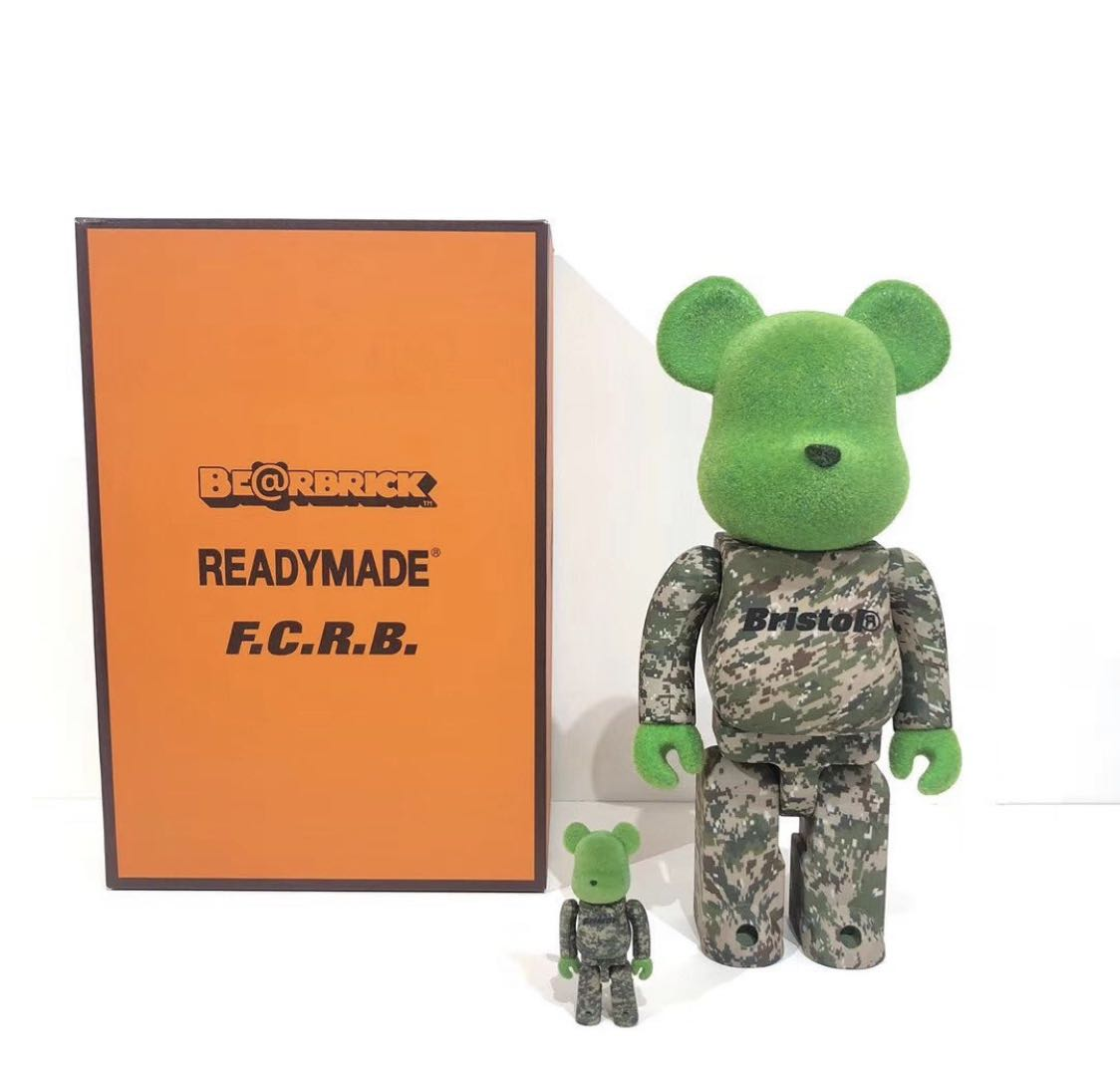bearbrick 400%+100% readymade FCRB 全新未拆封