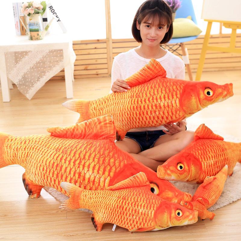 Моделирование красный карп король подушка кукла творческий выйти замуж праздновать плюш игрушка оптовая торговля ткань кукла день рождения подарок женщина