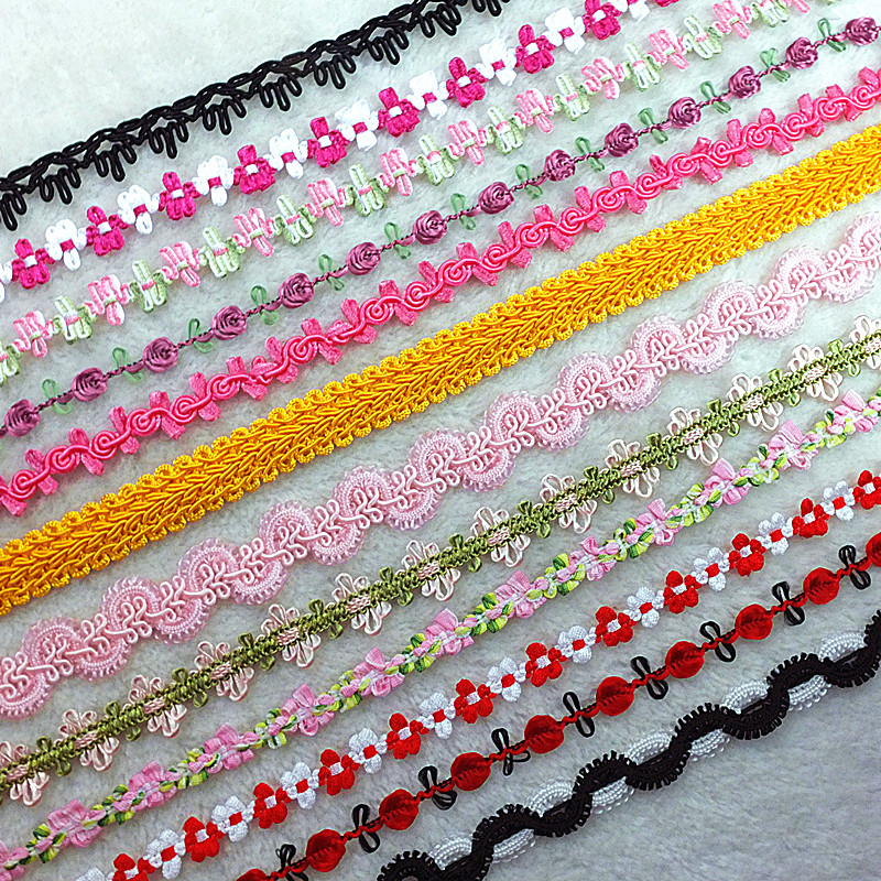 Baicaihui clothing embroidery hook knitting lace baby clothes home accessories accessories ethnic handicrafts ribbon