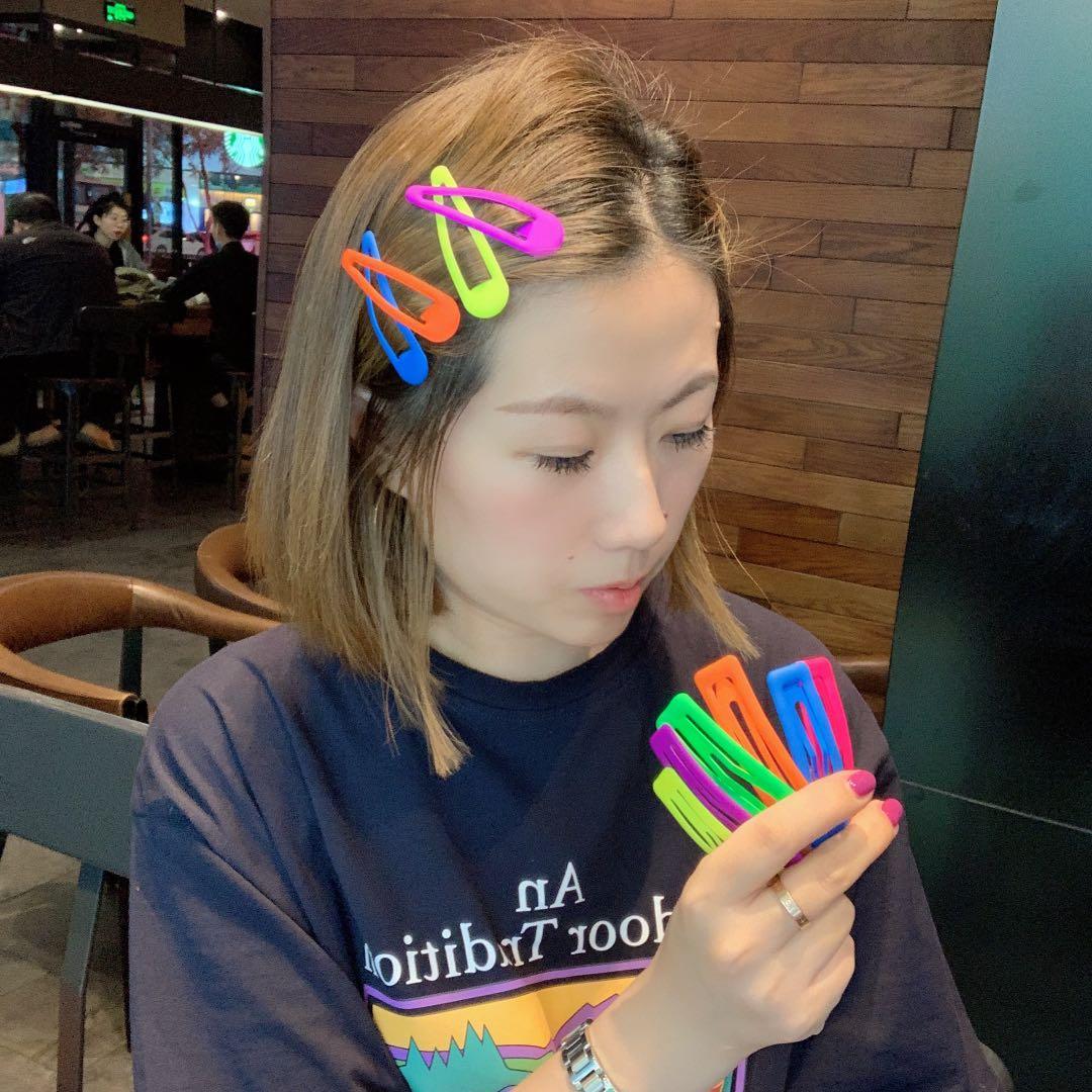 韩国东大门同款糖果彩色bb夹ins网红少女刘海夹可爱边夹百搭发夹